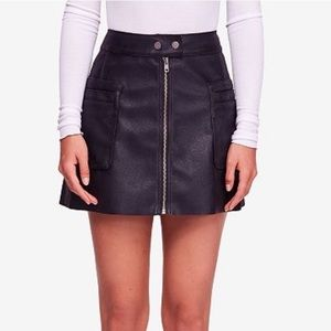 New Free People Faux Leather Mini Skirt